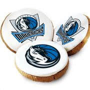One Dozen Dallas Mavericks White Logo Cookies