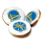 One Dozen Golden State Warriors White Logo Cookies