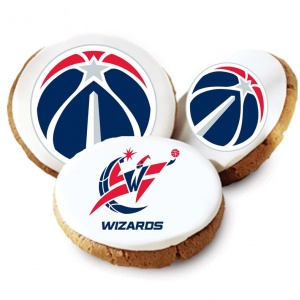 One Dozen Washington Wizards White Logo Cookies