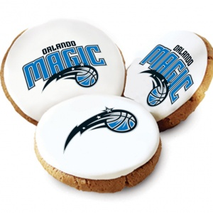 One Dozen Orlando Magic White Logo Cookies
