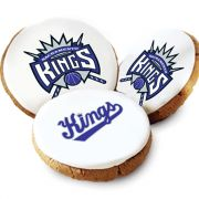 One Dozen Sacramento Kings White Logo Cookies