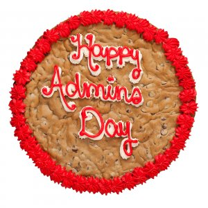 Happy Admins Day Cookies Cake