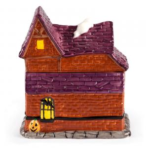 Spooky Station Cookie Jar - Back