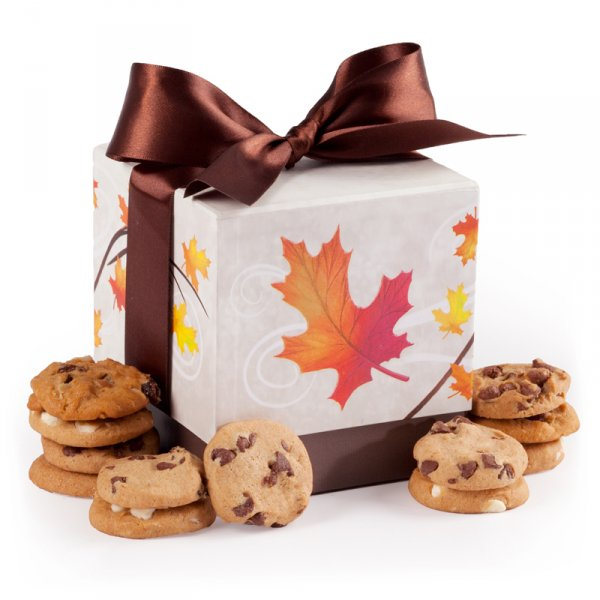 Fall Leaves Mini Ribbon Box