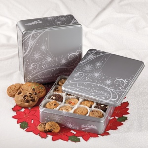 Shimmering Seasons Greetings Tin