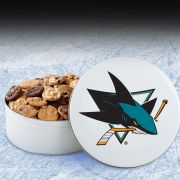San Jose Sharks 54 Nibbler White Tin