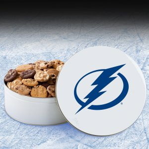 Tampa Bay Lightning 54 Nibbler White Tin