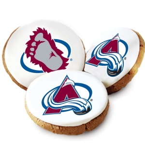 Colorado Avalanche Logo Cookies