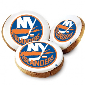 New York Islanders Logo Cookies