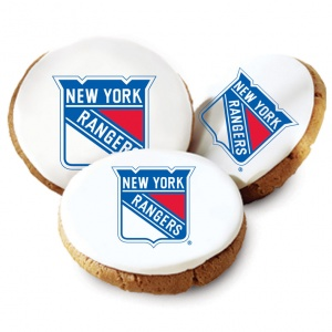 New York Rangers Logo Cookies