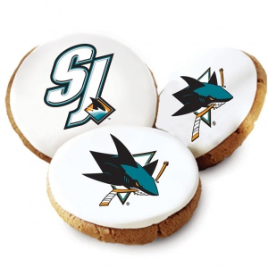 San Jose Sharks Logo Cookies