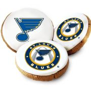 St Louis Blues Logo Cookies