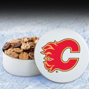 Calgary Flames 54 Nibbler White Tin