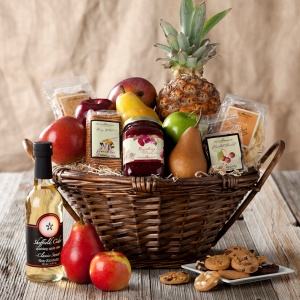 Deluxe Fruit  Sweets Basket