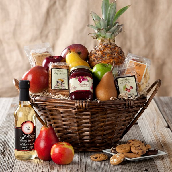 Deluxe Fruit & Sweet Basket