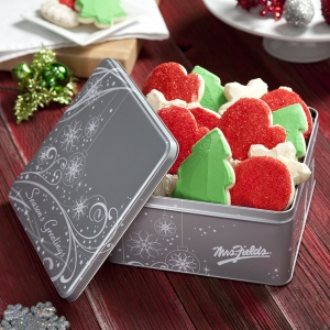Frosted Cookies Seasons Greetins Tin