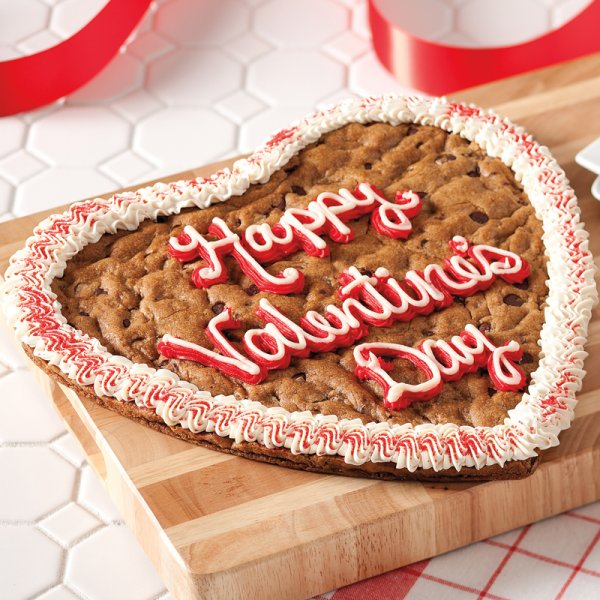 Valentines Heart Cookie Cake