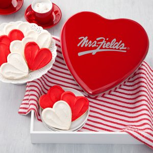 Classic Heart Frosted Cookies Tin