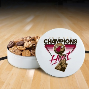 Miami Heat NBA Champs 54 Nibbler White Tin