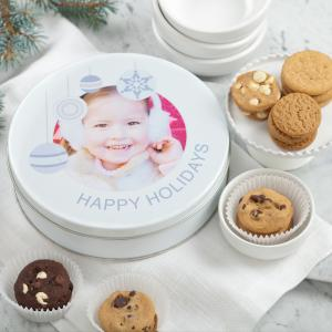 Happy Holidays Personalized Tins