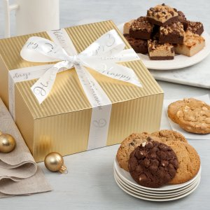 Golden Elegance Cookie Box