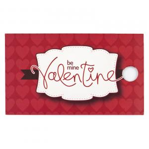 Frosted Hearts Basket - Be Mine Valetine Tag