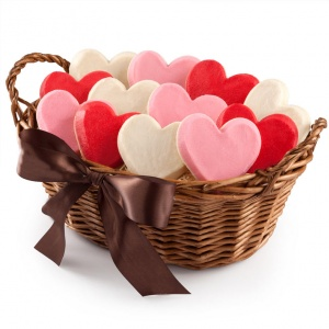 Frosted Hearts Basket - Frosted Hearts Basket