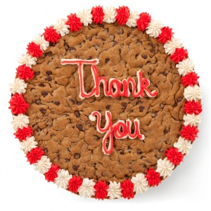 BM Thank You Big Cookie Cake