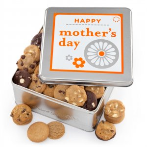 Mothers Day tins with chocolate chip cookies macadamia cookies peanut butter cookies and more