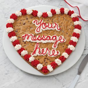 Heart Personalized Cookie Cake