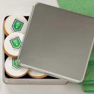 tin with logo cookies logo cookie customize personalize - Tin