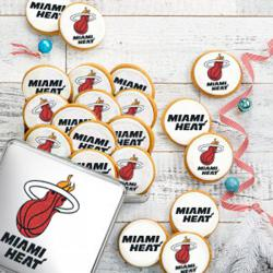 tin with logo cookies logo cookie customize personalize - Miami Heat