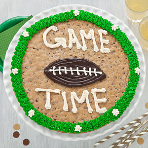 Game Time Football Cookie Cake football