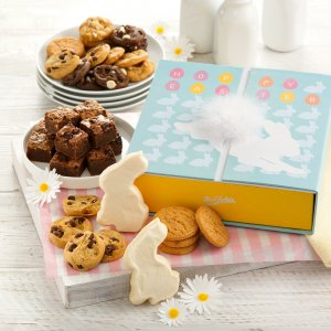 easter box gift bunny candy cookies