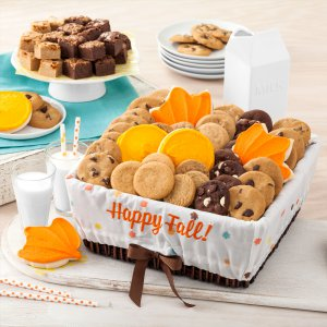 fall basket gift cookie gift basket