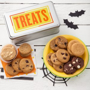 halloween tin gift cookie tin