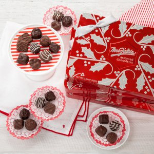 holiday chocolates chocolate chocolates xmas christmas tin