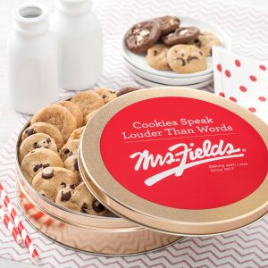tin gift tin gift cookies cookie mrs fields