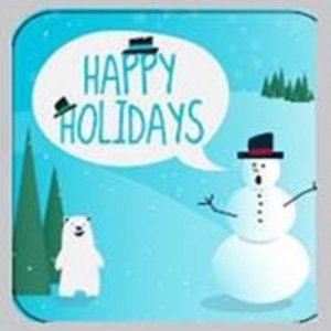 Happy Holidays Snowman 24 ct Tin