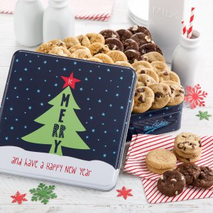 christmas tins tins tin christmas xmas holiday cookies cookie gift