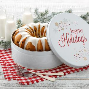 bundt cake cake holiday christmas xmas gift tin - Blueberry Lemon