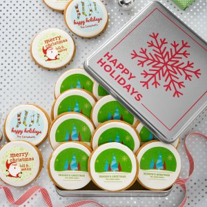 Holiday Logo Cookies