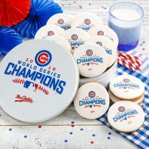 Chicago Cubs 2016 World Series Champions Logo Cookie Tin