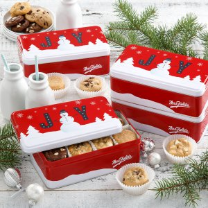 christmas xmas tin holiday business gift