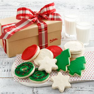 holiday holiday gift cookies frosted cookies box