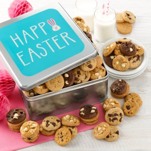 easter tin gift bunny candy cookies