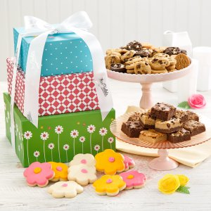 spring gift box cookies tower bundle