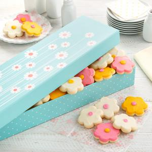 spring gift box cookies mom mother mothers day - Assorted Frosted Flowers