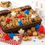 memorial day july fourth july the 4th of july red white blue cookies cookie basket gift p