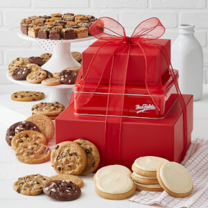 Traditional Crimson Cookie Tower Nut-Free